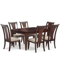 metropolitan 7 pc contemporary dining set dining table u0026 6 side