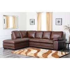 Top Grain Leather Sectional Sofas Abbyson Living Devonshire Premium Top Grain Leather Sectional Sofa