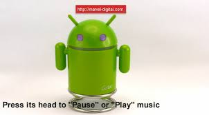 android mp3 android robot mini fm radio and mp3 player with usb and microsd