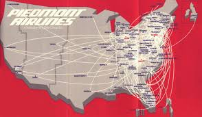 Allegiant Air Route Map Piedmont Airlines Route Map Airline Routes Pinterest Travel