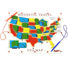 Usa Puzzle Map by U S A United States Magnetic Puzzle Map Educational Toy Adorable