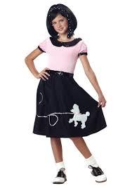 50s Halloween Costumes Poodle Skirts Girls Sock Hop Costume