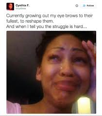 Eyebrow Meme - 19 struggles of growing out your eyebrows