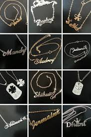 stainless steel name necklace images Name necklace malaysia la necklace jpg