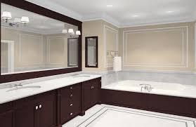Wall Mounted Bathroom Mirror Bathroom Interior Rectangle Black Wooden Wall Mount Mirror
