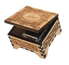 engraved box laser cut wooden box