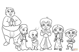 chhota bheem characters coloring page free printable coloring pages