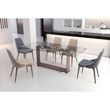 Dining Chair Deals Zuo Moor Gray Leatherette Dining Chair Set Of 2 100278