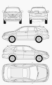 lexus rx 400h hybrid 2005 lexus rx 400h 2005 blueprint download free blueprint for 3d modeling