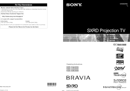sony kds 60a3000 l replacement instructions sony kds 50a3000 user manual sxrd projection tv manuals and guides