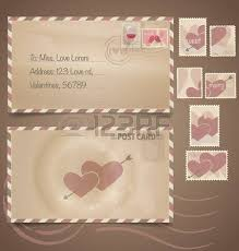 Stamps For Wedding Invitations Vintage Postcard Background Vector Template For Wedding Invitation