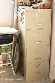 Chalk Paint On Metal Filing Cabinet File Cabinet Makeover Using Chalk Paint Pretty Handy Girl