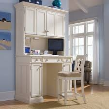 White Wood Computer Desk Furniture Magnetizing Computer Desks With Hutch For Your Home
