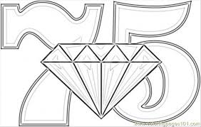 diamond wedding coloring coloring free numbers
