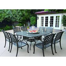 Aluminum Outdoor Patio Furniture by Shop Darlee Nassau 10 Piece Antique Bronze Aluminum Patio Dining