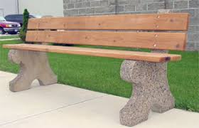 Wood Bench With Metal Legs Commercial Service Supply Concrete And Metal Furnishings Bench