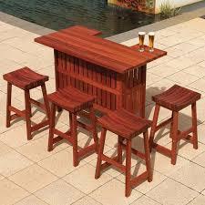 Patio Bar Furniture Set To It Jarrah Outdoor Patio Bar Set Patio Decor