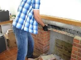 Remove Brick Fireplace by Smashing The Fireplace Bricks Youtube