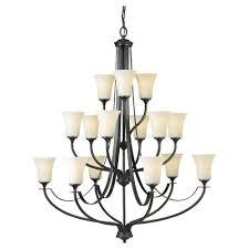 Multiple Lamp Shade Chandelier by Lbl Lighting Interlace 18 In Rubberized Black Led Chandelier