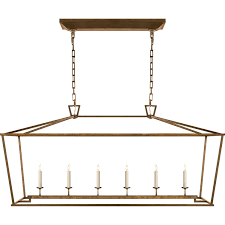 Kitchen Table Lighting Visual Comfort Chc2166 Darlana 6 Light Linear Pendant Visual