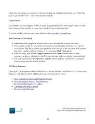 cover letter investment banking analyst cover letter for finance