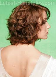 back view wavy short bob for thick hair 2015 13 best short layered curly hair short hairstyles 2016 2017