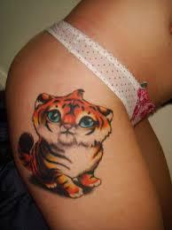 tiger on hip from itattooz