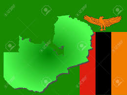Map Of Zambia Map Of Zambia And Zambian Flag Illustration Stock Photo Picture