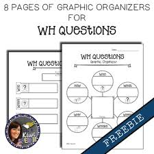 wh questions graphic organizers freebie visual worksheets to