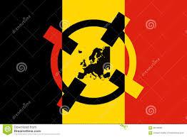 Belgian Flag Belgium Terrorism Concept Belgian Flag Crosshair Terror Target