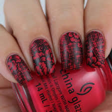 red and black combination for gorgeous nail art style motivation