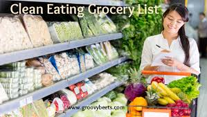 clean eating grocery list groovybeets com