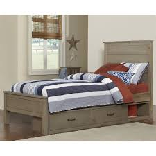 Cottage Platform Bed With Storage Full Storage Beds With Drawers Humble Abode