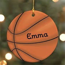 basketball ornaments personalized ornaments