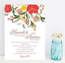 wedding statements fast wedding invitations large flower floral watercolor style