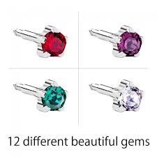 ear piercing studs steel birthstars ear piercing studs
