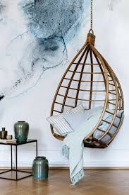 hanging chair as spectacular furniture in elegant home design