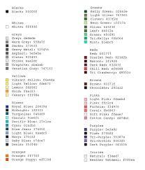 Best Color Hex Codes T Shirt Color Hex Codes Threadless Artist Shops