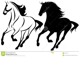 mustang horse running mustang running stock vector image of design black 28446777