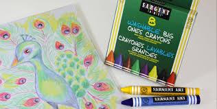 amazon com sargent art 55 0912 12 count large crayon peggable