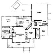 2 Story Country House Plans by 655852 1 Story Country Farmhouse 3 Bedroom 2 Bath With Open