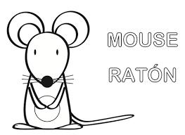 imagenes de ratones faciles para dibujar ratón para colorear manualidades