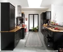 meuble de cuisine noir modele de cuisine noir laque idée de modèle de cuisine