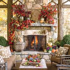Fall Decorations For Outside The Home Glowing Outdoor Fireplace Ideas Southern Living