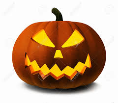 scary jack o lantern halloween pumpkin 3d illustration stock