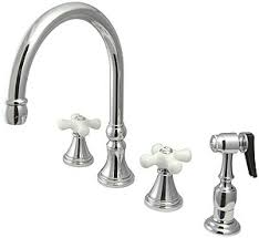 kitchen faucet handles bar harbor handle kitchen faucet with sprayer and white