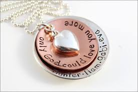 metal name necklace images Custom gift for mom mixed metal name necklace only god could jpg
