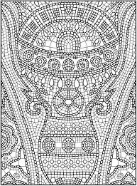 mosaic patterns coloring pages coloring