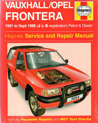 holden frontera service repair manual workshop car manuals