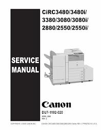 canon imagerunner ir c2550 2380 3080 3480 3580 i service manual
